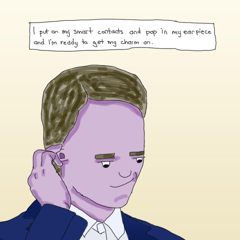 putting-in-ear-piece